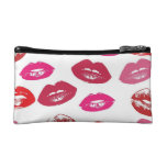 Pink Red Lips Cosmetic Makeup Bag