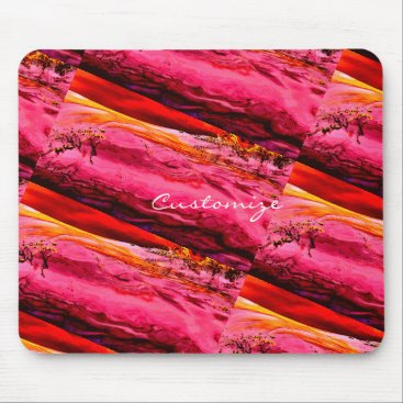 Beach Themed pink/red maui wave Thunder_Cove Mouse Pad