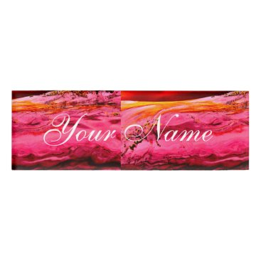 Beach Themed pink/red maui wave Thunder_Cove Name Tag