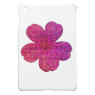 Pink Red Mosaic Geranium Flower Case For The iPad Mini