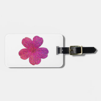 Pink Red Mosaic Geranium Flower Luggage Tag