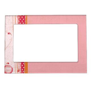 Pink Red Orange 5x7 Magnetic Frame