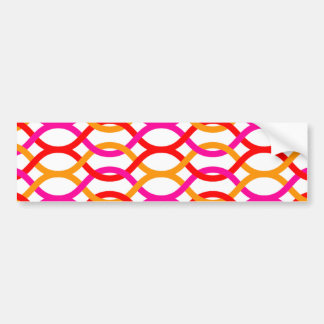 Pink Red Orange Bold Chain Print Bumper Sticker