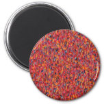 Pink Red Orange Confetti Speckled Refrigerator Magnet