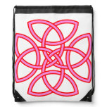 Pink & Red Ornate Triquetra Cross Backpack