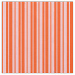 [ Thumbnail: Pink & Red Pattern of Stripes Fabric ]