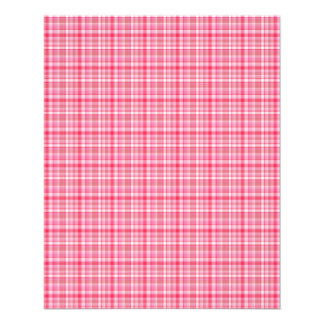 Pink Red Plaid Full Color Flyer