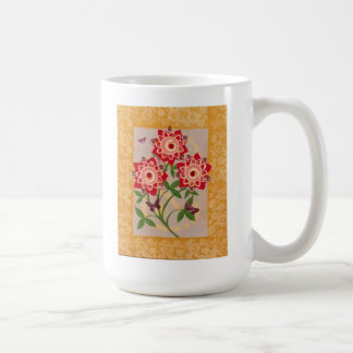 Pink & Red Posies with Butterflies Bo-POP-tanical Classic White Coffee Mug