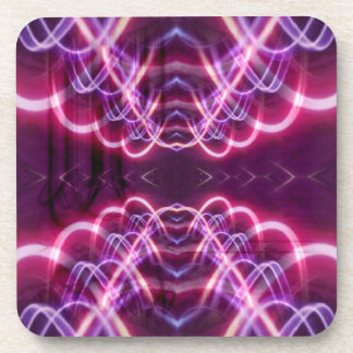 Pink Red Purple Abstract Pattern Drink Coaster