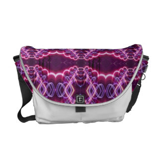 Pink Red Purple Abstract Pattern Messenger Bag