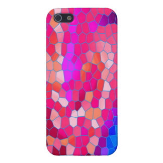 Pink Red Purple & Magenta Abstract Mosaic Pattern iPhone SE/5/5s Case