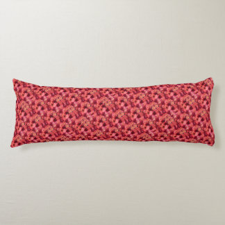 PINK RED ROSE FIELD BODY PILLOW