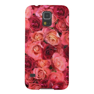 PINK RED ROSE FIELD CASE FOR GALAXY S5