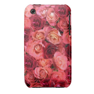 PINK RED ROSE FIELD iPhone 3 Case-Mate CASES