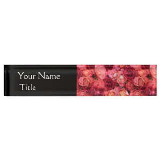PINK RED ROSE FIELD NAME PLATE