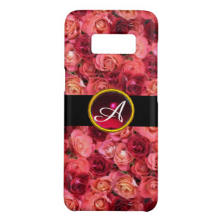 PINK RED ROSE FIELD ,RED RUBY GEMSTONE MONOGRAM Case-Mate SAMSUNG GALAXY S8 CASE