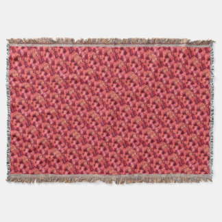 PINK RED ROSE FIELD THROW