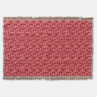 PINK RED ROSE FIELD THROW BLANKET