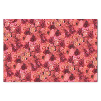 PINK RED ROSE FIELD TISSUE PAPER