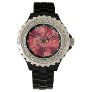 PINK RED ROSE FIELD WATCHES