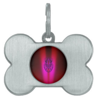 PINK RED SHADOW DUCK PET ID TAG