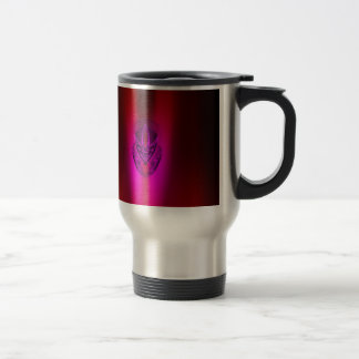PINK RED SHADOW DUCK TRAVEL MUG