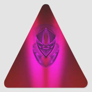 PINK RED SHADOW DUCK TRIANGLE STICKER