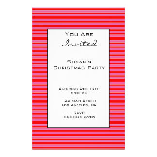 """Pink Red Striped Christmas 5.5"""" X 8.5"""" Flyer"""