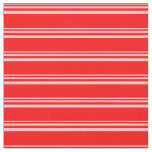 [ Thumbnail: Pink & Red Stripes Pattern Fabric ]