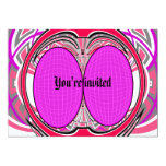 Pink red superfly design 5x7 paper invitation card