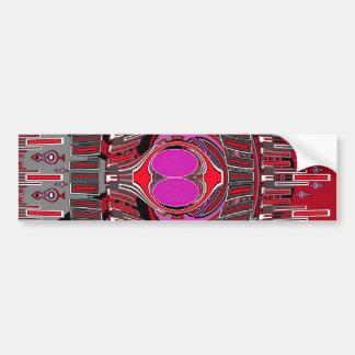 Pink red superfly design car bumper sticker
