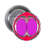 Pink red superfly design pin