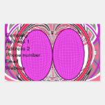 Pink red superfly design rectangular sticker