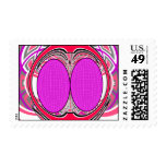 Pink red superfly design stamps