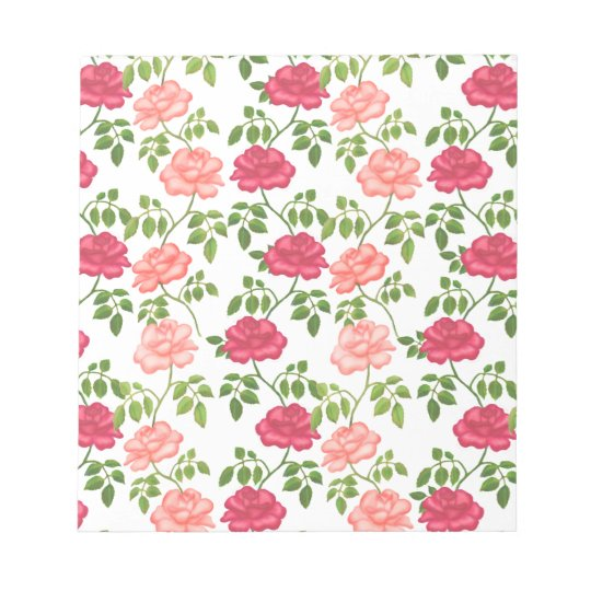 Pink Red Tea Roses Notepad