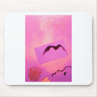 Pink Red Wild Bird Seagull Dream Girl Mouse Pad