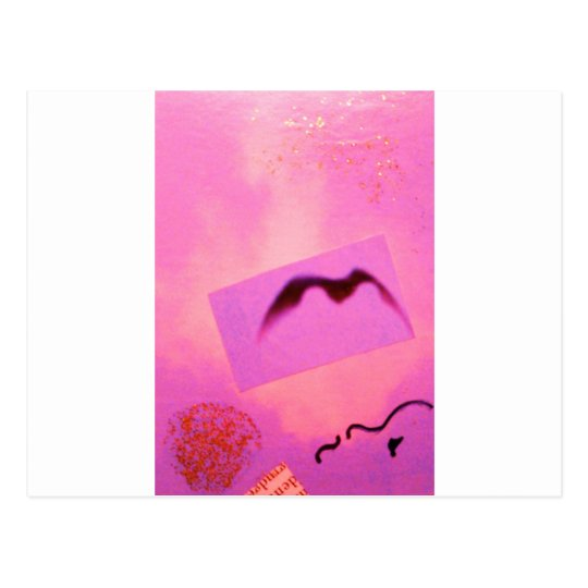 Pink Red Wild Bird Seagull Dream Girl Postcard