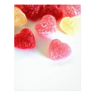 Pink Red Yellow Heart Candy Pattern Letterhead