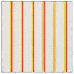 [ Thumbnail: Pink, Red, Yellow & White Lines/Stripes Pattern Fabric ]