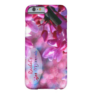 Pink Redbud Blossoms Bat Mitzvah Personalized Barely There iPhone 6 Case