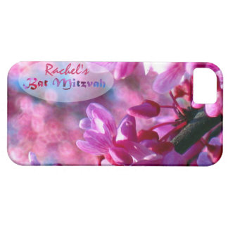 Pink Redbud Blossoms Bat Mitzvah Personalized iPhone SE/5/5s Case