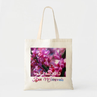 Pink Redbud Blossoms Bat Mitzvah Personalized Tote Bag