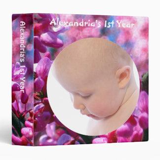 Pink Redbud Blossoms Custom Photo Binder