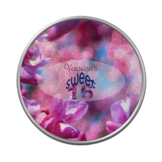 Pink Redbud Blossoms Custom Sweet 16 Jelly Belly Candy Tin