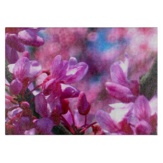 Pink Redbud Blossoms Cutting Board