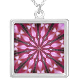 Pink Redbud Medallion Pendants