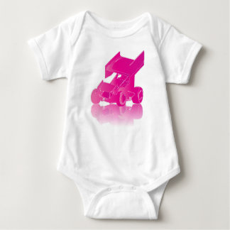 Pink Reflection Winged Sprint Car Baby Bodysuit