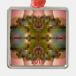 Pink Reflections Square Ornament