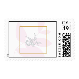 Pink Religious Postage Stamp