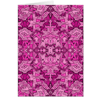 pink repeat pattern card